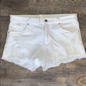 H&M White Denim Shorts